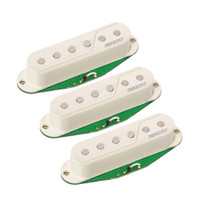 Fishman Fluence Set of 3 Single Width Pickups for Strat White
