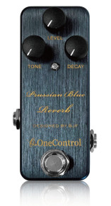 One Control BJF Designed Prussian Blue Reverb pedal