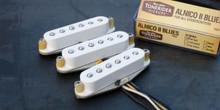 Tonerider TRS4 Alnico II Blues Strat set - white, left handed
