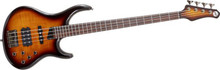 MTD Kingston Heir 4 String Bass Guitar - Tobacco Sunburst, Rosewood Fretboard