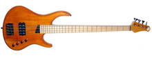 MTD Kingston Artist 4 String Bass Guitar - Amber, Maple Fretboard
