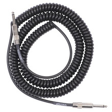 "Lava Retro Coil Cable 20 ft straight to straight 1/4"" - black"