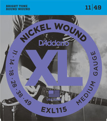 D'addario EXL115 Blues/Jazz Rock Elec Guitar Strings