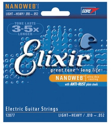 Elixir Nanoweb Electric Light-Heavy 10-52 strings