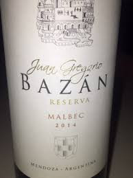 Bazan Reserva Malbec 2014