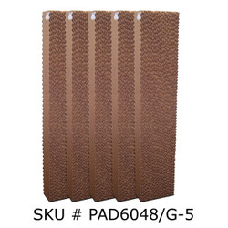 "Replacement Pad for 36"" Fan Units Pads For Hurricane 3600 - SET OF 5"