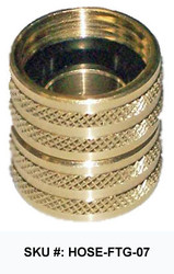 "3/4"" Brass Swivel (Female/Female) SKU #: HOSE-FTG-07"