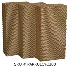 "Pad Set for Portacool Cyclone 200 Fan (6"" x 22"" x 19"") - Set of 3 - PARKULCYC200"