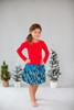 Toddler & Kids Carnation/Teal Drop-Waist Dress
