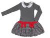 Infant Toddler & Kids Dark Melange Polka Dot Drop-waist Dress