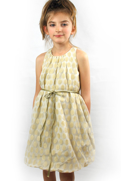 Toddler & Kids Gray Cloud Bubble Dress