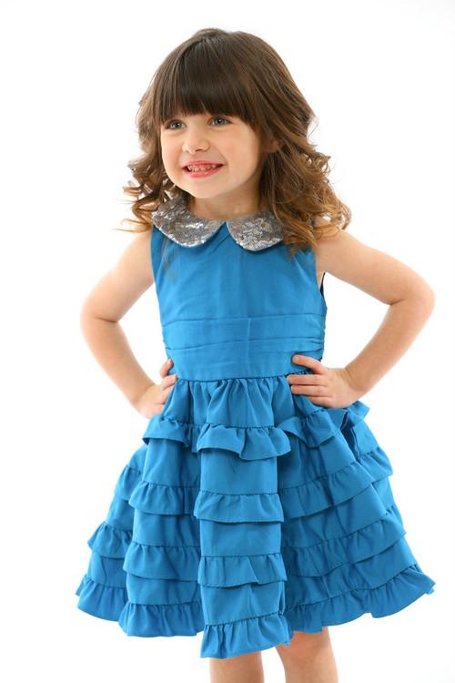 Infant Toddler & Kids Teal Marfa Dress