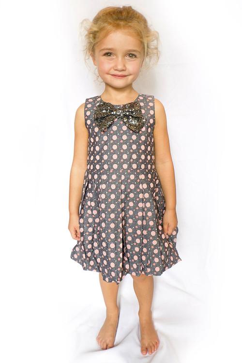 Infant Toddler & Kids Gunmetal Sveta Dress