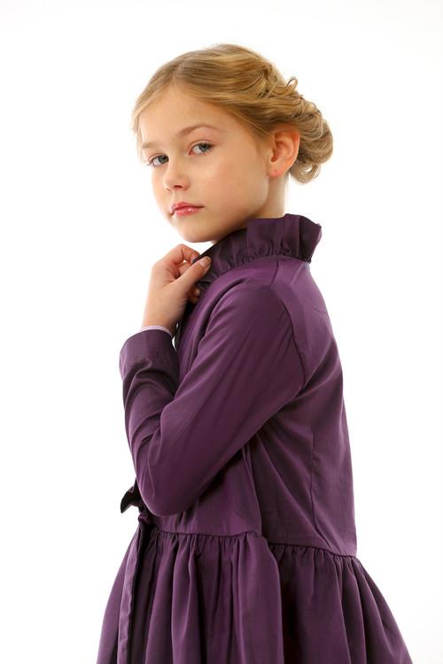 Toddler & Kids Purple Chambray Jacket