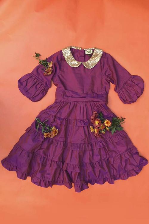 Toddler & Kids Purple Tatiana Dress