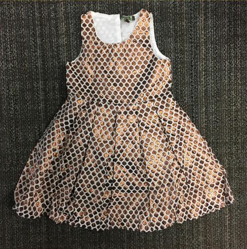Sample Sale Honeycomb Dress Gold