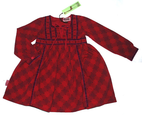 Sample Sale Crimson Long Sleeve Dress-Size7/8Y