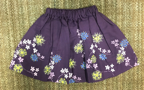 Sample Sale Violet Floral Printed Skirt-Size3