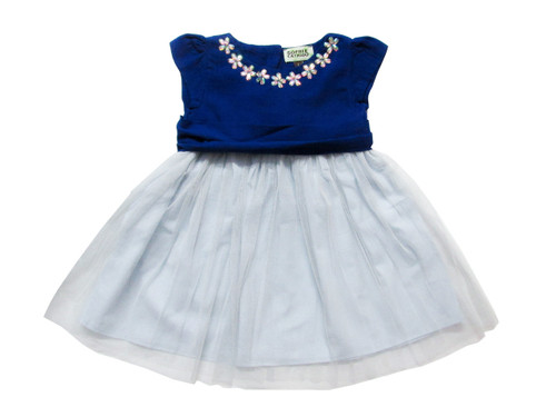 Sample Sale Princess Dress Royal & Silver