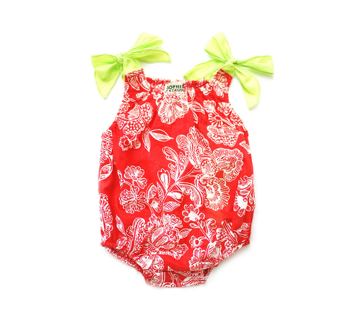 Sample Sale Red Print Baby Bubble