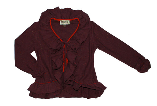 Sample Sale Brown Ruffle Cardigan
