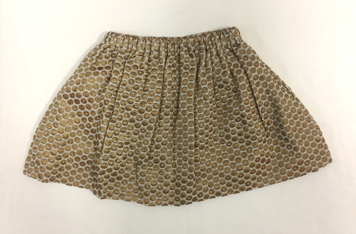 Sample Sale Metallic Gold Dot Skirt