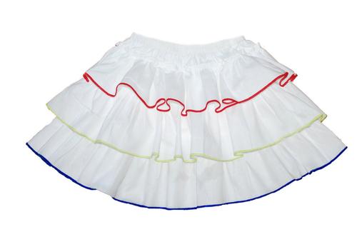 Sample Sale White multi layered skirt-18m