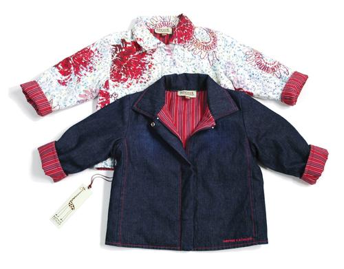 Sample Sale White printed jacket