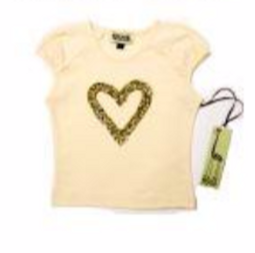 Sample Sale Cream Heart Top