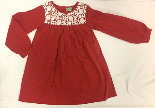 Sample Sale Red Lace Long Sleeve Dress