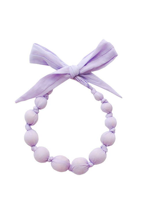 Wisteria Wooden Bead Necklace