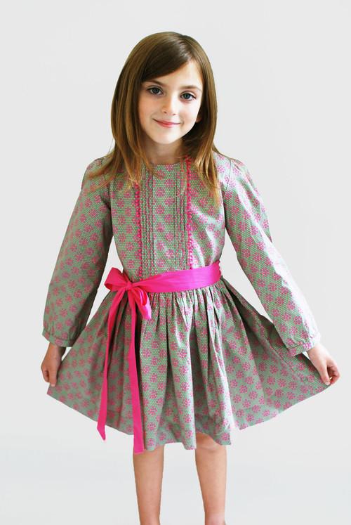 Sample Sale Dove Gray Peasant Dress