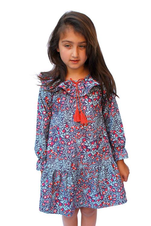 Sample Sale Provence Print Ruffle Dress