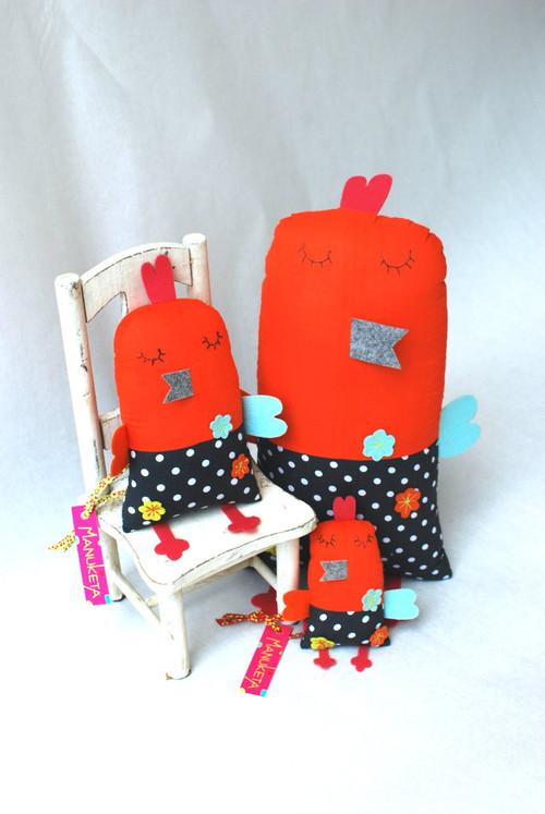 Gray & Orange Birdie 6.5'' Toy