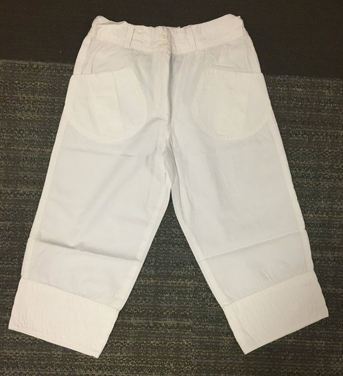 Sample Sale White Pants  7/8y