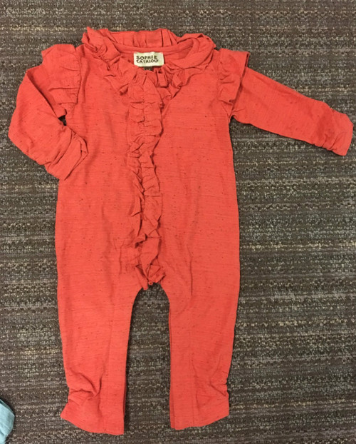 Sample Sale Pumpkin Knit Romper
