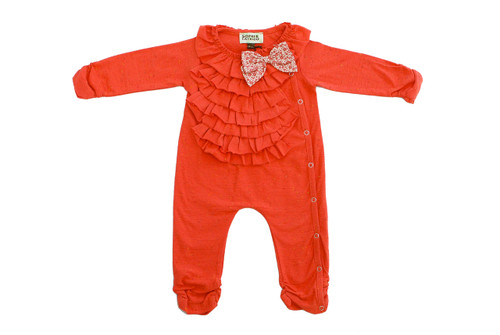 Sample Sale Pumpkin Knit Romper with Bow