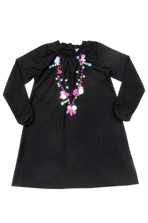 Black Sequin Necklace Dress
