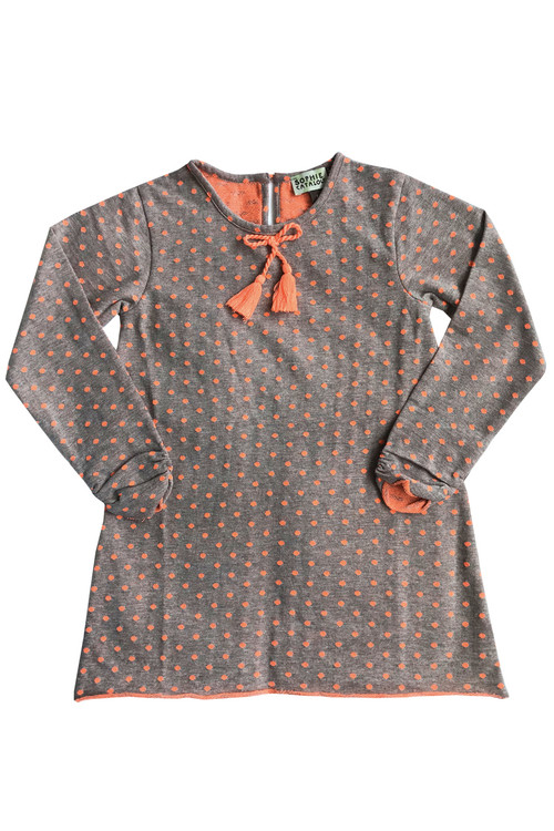 Polka Dot Knit Shift Dress