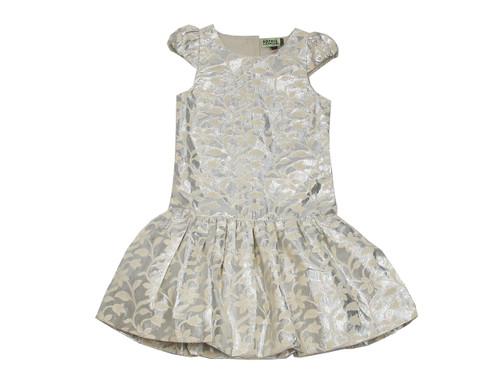 Sample Sale Silver Brocade Dress