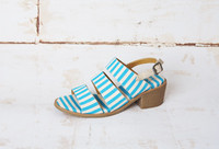 Ezra Aqua Stripe Canvas