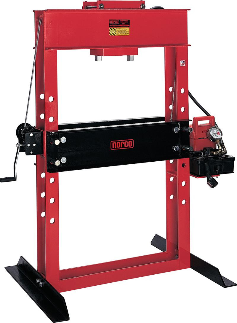 """Motorcycle Tire Spoons NorcoIndustries 78078 50 Ton USA Elect/hyd Shop Press - 13.25"""" Stroke"""