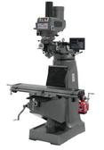 JET 690069 JTM-4VS Mill, 3 Ph, Newall DP700 DRO, Power Draw Bar and X-Axis Powerfeed