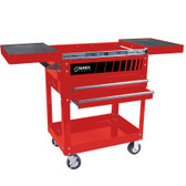 Sunex 8035R Compact Utility Cart | Slide Top