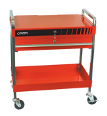 Sunex Red Service Cart with Locking Top and Drawer