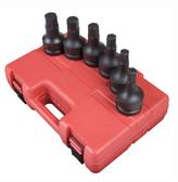 "Sunex 5607 1"" Dr. 6 Pc. Metric Hex Drive Impact Socket Set"