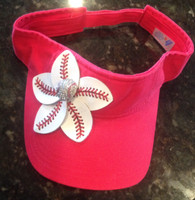 Baseball Flower Visor