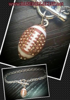 Blingy Football Toggle Bracelet