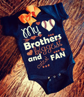 Biggest Fan Baseball Tee or Onesie