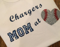 Mom At Heart Baseball Tee